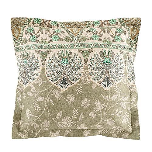 Bassetti Barisano - Funda de cojín (algodón, 40 x 40 cm), Color Verde