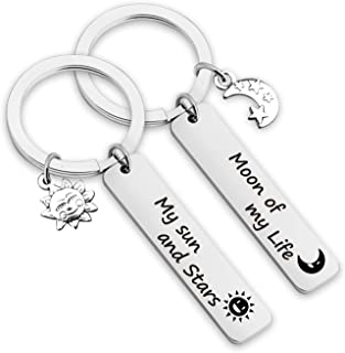 My Sun and Stars Moon of My Life Couple Keychain Game of Thrones Jewelry Daenerys Keyring Dothraki Keychain(moon of life KR)