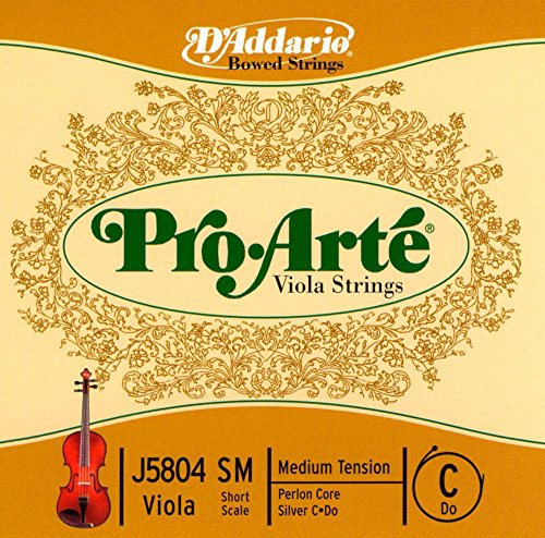 D\'Addario Pro-Arte Einzelne C-Saite für Bratsche/Viola mit kurzer Mensur (Spannung: medium)