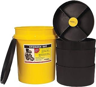 KING INNOVATIONS 47502 Yellow Storage Organizer Bucket