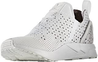 adidas Originals Men's Zx Flux Adv Asymmetrical Primeknit Trainers Crystal US10 White