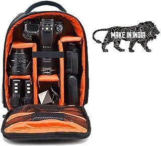 GOD BOY DSLR/SLR Camera Lens Shoulder Backpack Case for Canon Nikon Sigma Olympus Camera (Orange)