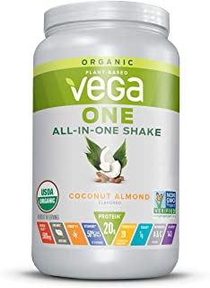 Vega One Organic Meal Replacement Plant Based Protein Powder, Coconut Almond - Vegan, Vegetarian, Gluten Free, Dairy Free ...