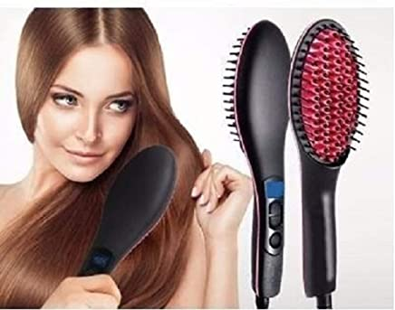 Shree Krishna Women's Electric Comb Brush Nano 2 in 1 Ceramic Hair Straightener Brush Straightening with LCD Screen, Temperature Control Display (hair straightener for women)
