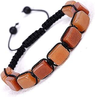 MLYX 7 Chakra Adjustable Bracelets for Women Men,Crystal Healing Stones Bracelets,Reiki Stones Bead, Braided