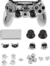 Homyl Full Buttons Mod Kits Chrome Plating L1 L2 R1 R2 Replacement Full Trigger Buttons Kit + Housing Shell For Sony Plays...