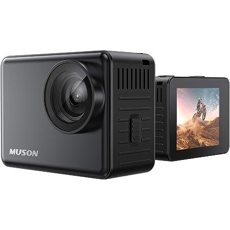【本機防水10M】 MUSON(ムソン) アクションカメラ 4K 60FPS 20MP 手ブレ補正 wifi搭載 170度広角レンズ 1350mAhバッテリー2個 リモコン付き 2インチ液晶画面 HDMI出力 水中カメラ バイクカメラ スポーツカメラ ウェブカメラ 豊富なアクセサリー アクションカム (Ultra1)