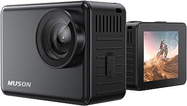 【本機防水10M】MUSON(ムソン) アクションカメラ 4K 60FPS 20MP 高画質 手ブレ補正 wifi搭載 170度広角レンズ 1350mAhバッテリー2個 リモコン付き 2インチ液晶画面 HDMI出力 水中カメラ バイクカメラ ス...
