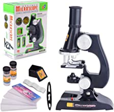 FUNRUI Kids Microscope, 450x, 200x, 100x Magnification Children Science Microscope Kit with LED Lights Includes Accessory Toy Set for Beginners Early Education