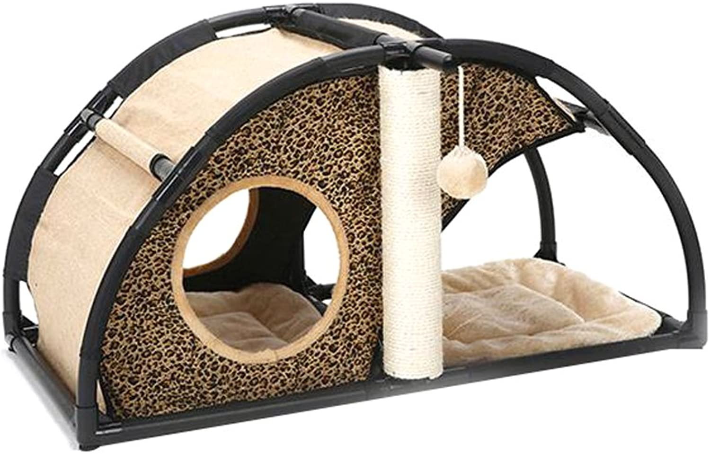 Cat Climbing Frame Cat Toy Pet House Cat House Dog House Kennel Pet Supplies Rest mat (color   A)