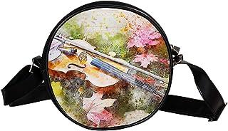 Coosun Umhängetasche mit Violinenblättern, Emotionen, rund, Schultertasche für Kinder und Damen