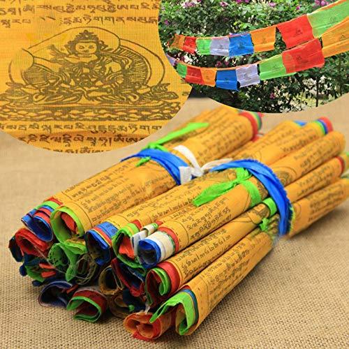NA 20PCS 5M Gebetsfahnen Farbige Prayer Flags Tibetische Buddhistische Fahne Farbig Dekoration MEHRWEG