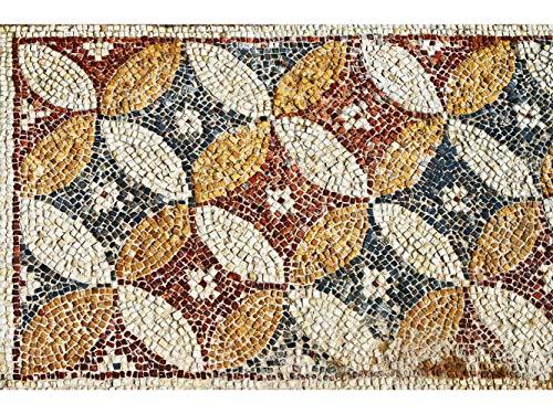Oedim Tapis Carpette Vinylique Lino Mosaïques Romaines Sol de Cuisine | 95 cm x 200 cm | Décoration Maison | Tapis en PVC | Sol en Vinyle