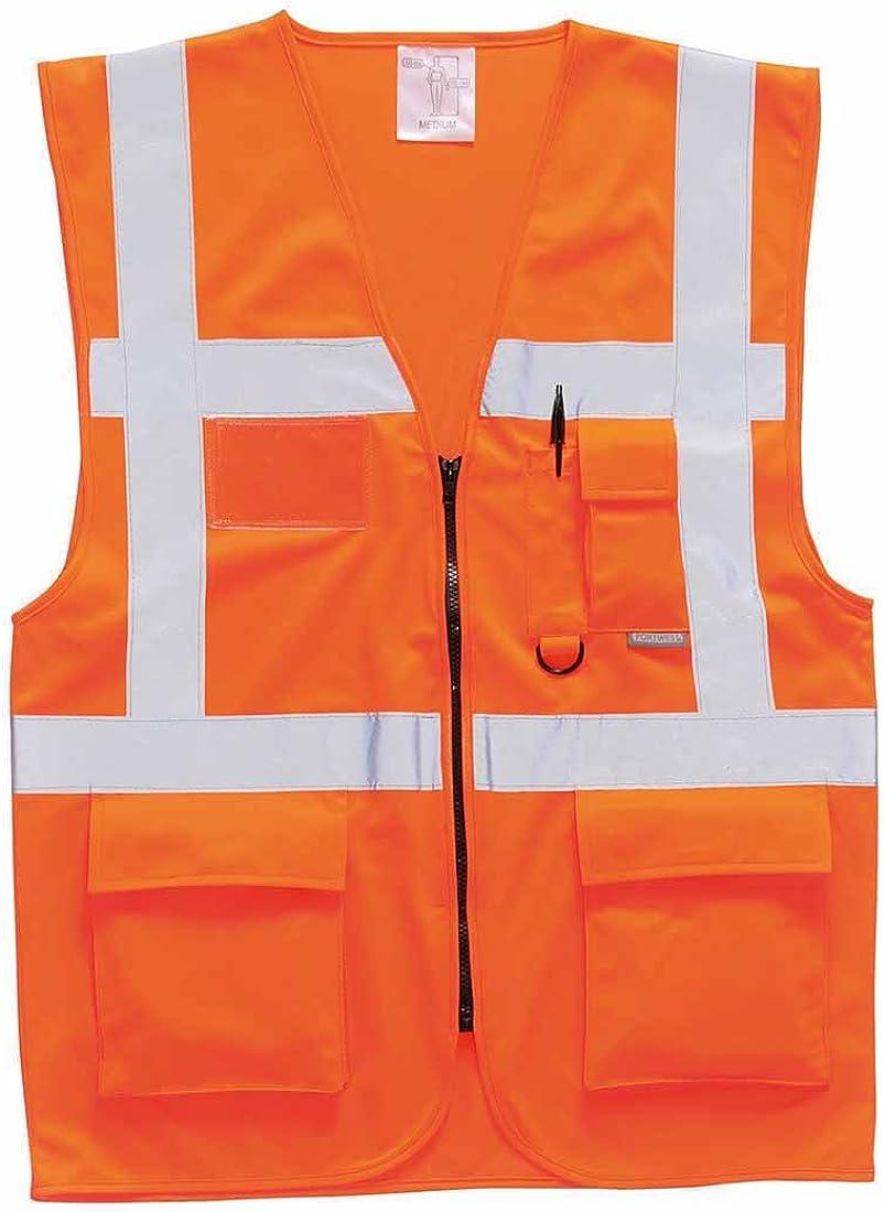 Portwest Workwear Mens Berlin Executive Vest Orange XL