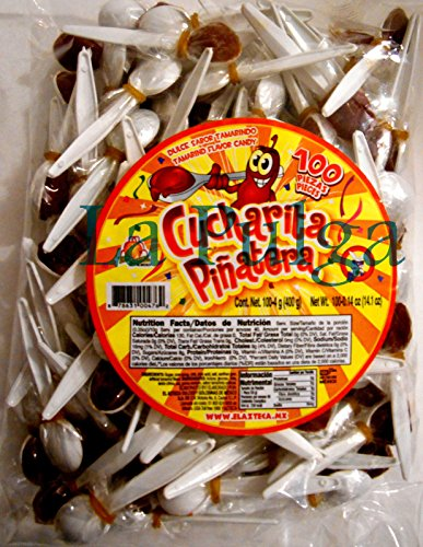 Cucharita Pinatera Tamarind Flavored Mexican Candy Spoon 100 pcs Tamarindo