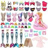 Miunana 25 Accesorios para 11.5 Pulgadas Muñeca De 28-30 cm: 4 Trajes De Baño + Pijama + Toalla + Salvavidas + 2 Ropas Sirena + 8 PCS Zapatos + 8 Accesorios (Seleccionado Al Azar