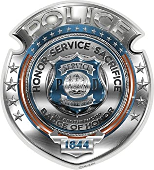 Collectible Law Enforcement Decals  4in,2pack  Share Your Support with Our Vinyl Police Honor Courage Sacrifice Badge Stickers for Your Home Car Cases and More Souvenir Gifts for Law Enforcement
