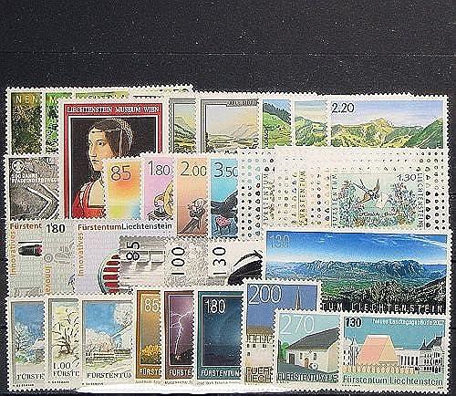 Goldhahn Liechtenstein Jahrgang 2007 postfrisch  Briefmarken für Sammler
