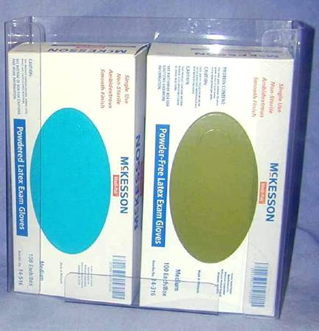 McKesson Glove Box Holder Double Clear Plastic 10.5X4