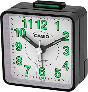 Casio TQ-140-1BDF Beep Alarm Clock, Black
