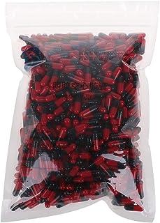 ZOUCY cápsulas vacías de gelatina Negra roja cápsulas de gelatina Huecas cápsula de píldora vacía 0