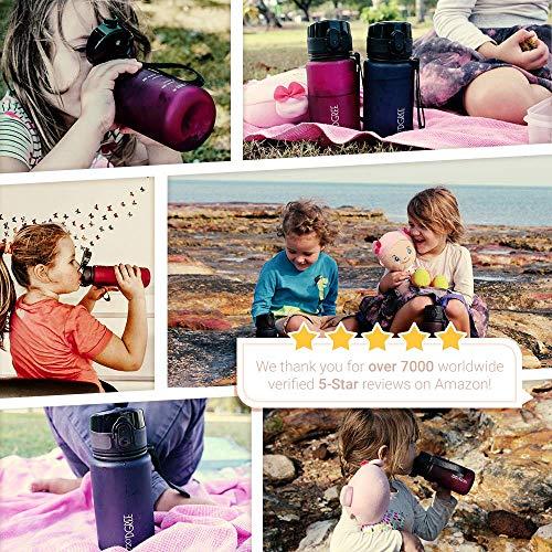 """720°DGREE Trinkflasche """"uberBottle"""" – 350 ml, 0,35 l, Grün, Gruen   Neuartige Tritan Wasser-Flasche   Water Bottle BPA Frei   Ideale Sportflasche für Kinder, Fitness, Fahrrad, Sport, Fussball - 3"""