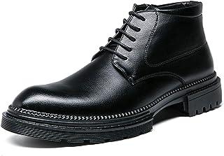 DADIJIER Oxford Boots para Hombres Toe Redondo CORDADO Arriba Arriba COMPLETURA Sintetica SINTÉTICA Sole Sole Bloque BAJO ...