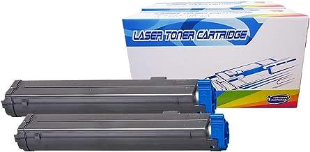 Inktoneram Compatible Toner Cartridges Replacement for Okidata B4600 / B4550 / B4400 /B4500 B4600n B4500n B4550n B4400n 43502301 (Black, 2-Pack)