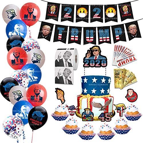 BINGFENG Donald Trump Lustige Party-Dekoration 2020 Präsident Aufkleber Confetti-Ballon Geeignet Für Partydekoration Parade Wahltag Feiern