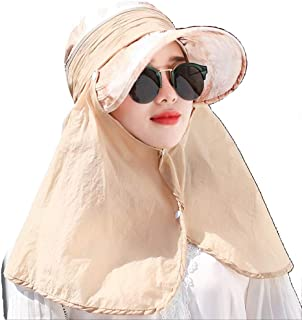 Jian E- Sombrero - Ciclismo de Verano para Damas Protección Solar Sombrero para el Sol Actividad al Aire Libre Cuello Facial Sombrero de sombrilla Integral (4 Colores) /-