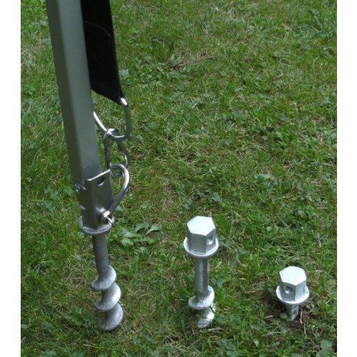 MIT WURMI-TASCHE - WOHNMOBIL CAMPING - MARKISEN-BEFESTIGUNG mit SPEZIAL gehärtete SCHRAUBHERINGE - ALU GEHÄRTET + EDELSTAHL 24 mm Schäkel über KOPF - DER STÄRKSTE IN SEINER GRÖSSE - 2er SET mit 24 mm EDELSTAHL über KOPF Metallschäkel - DER STABIELO - PROFI-WURMI mit SPEZIALHÄRTUNG - Schraubheringe - Zeltheringe - Wurmi-produkte für CAMPING-CARAVAN-OUTDOOR-FREIZEiT - MADE in GERMANY - LANGZEIT-TEST bestanden - INNOVATIONEN MADE in GERMANY - HOLLY PRODUKTE STABIELO ® - holly-sunshade ®