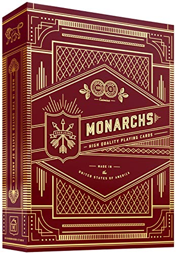 Theory THEORY11& Bicycle, Carte da Gioco Red Monarch,Versione Originale 1