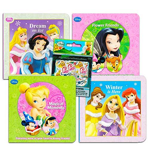 Disney Baby Toddler Board Books - Set of 2 Books with Disney Fairies Stickers (Disney Fairies Princess Board Books)