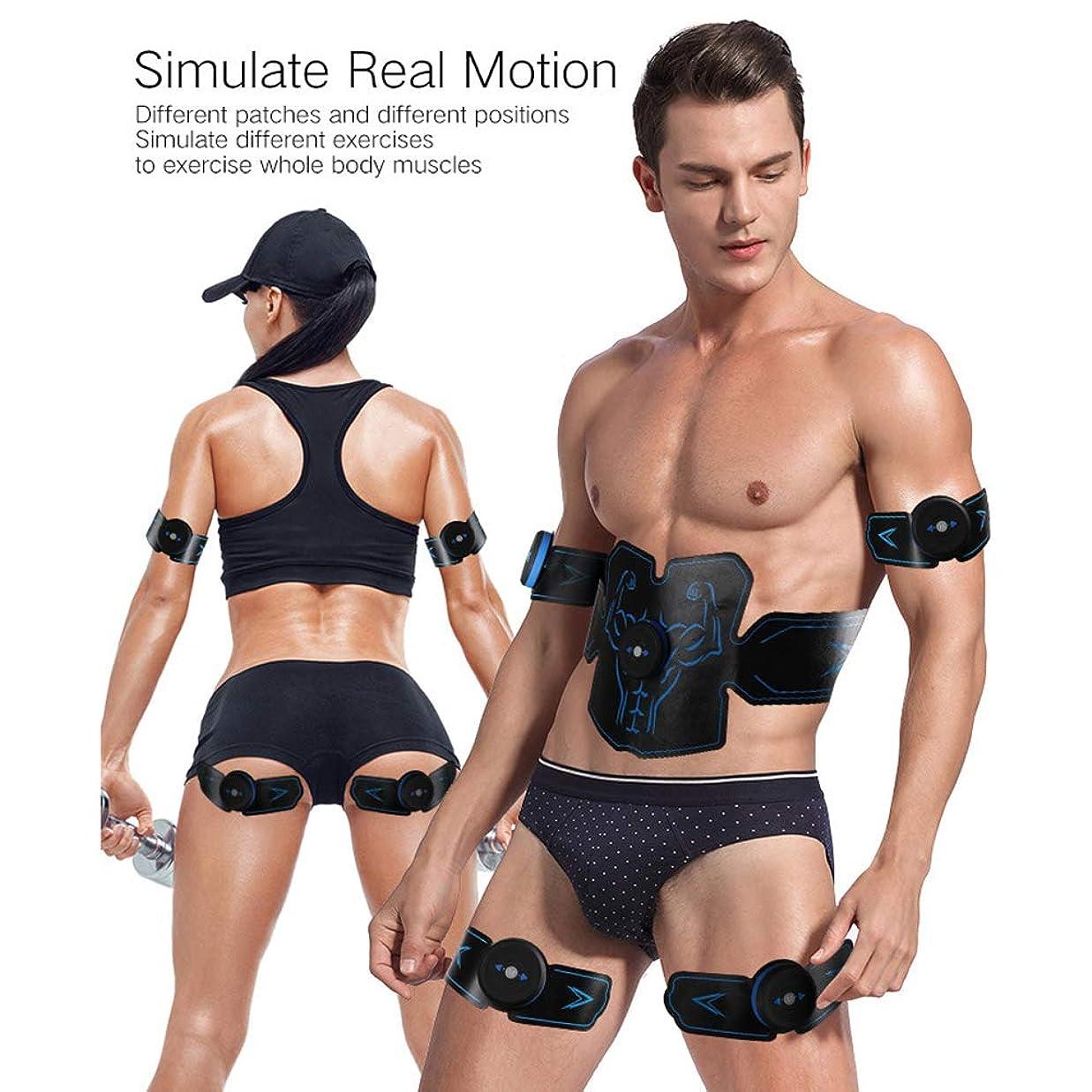 電気的マトンきちんとしたフィットネスベルト腹筋ペーストEMS筋肉刺激装置ABS安全筋肉トレーナー体重減少マッサージ機器スポーツフィットネス機器ユニセックス