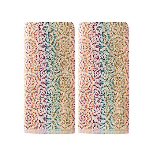SKL Home by Saturday Knight Ltd. Rhapsody 2 Pc Hand Towel Set, Multicolored
