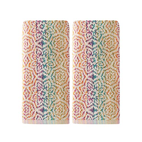 SKL Home by Saturday Knight Ltd. Rhapsody 2 Pc Hand Towel Set, Multicolored