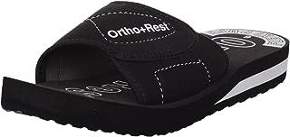 Ortho + Rest Black Slippers for Women