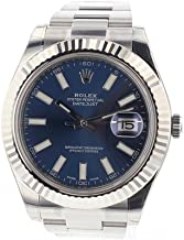Rolex Datejust Ii 41mm Steel Blue Dial Men's Watch 116334