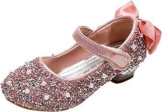FRAUIT Scarpe con Paillettes da Ragazza Primavera Mary Jane Donna Tacco Basso Scarpe Bambina Eleganti Da Cerimonia Scarpet...