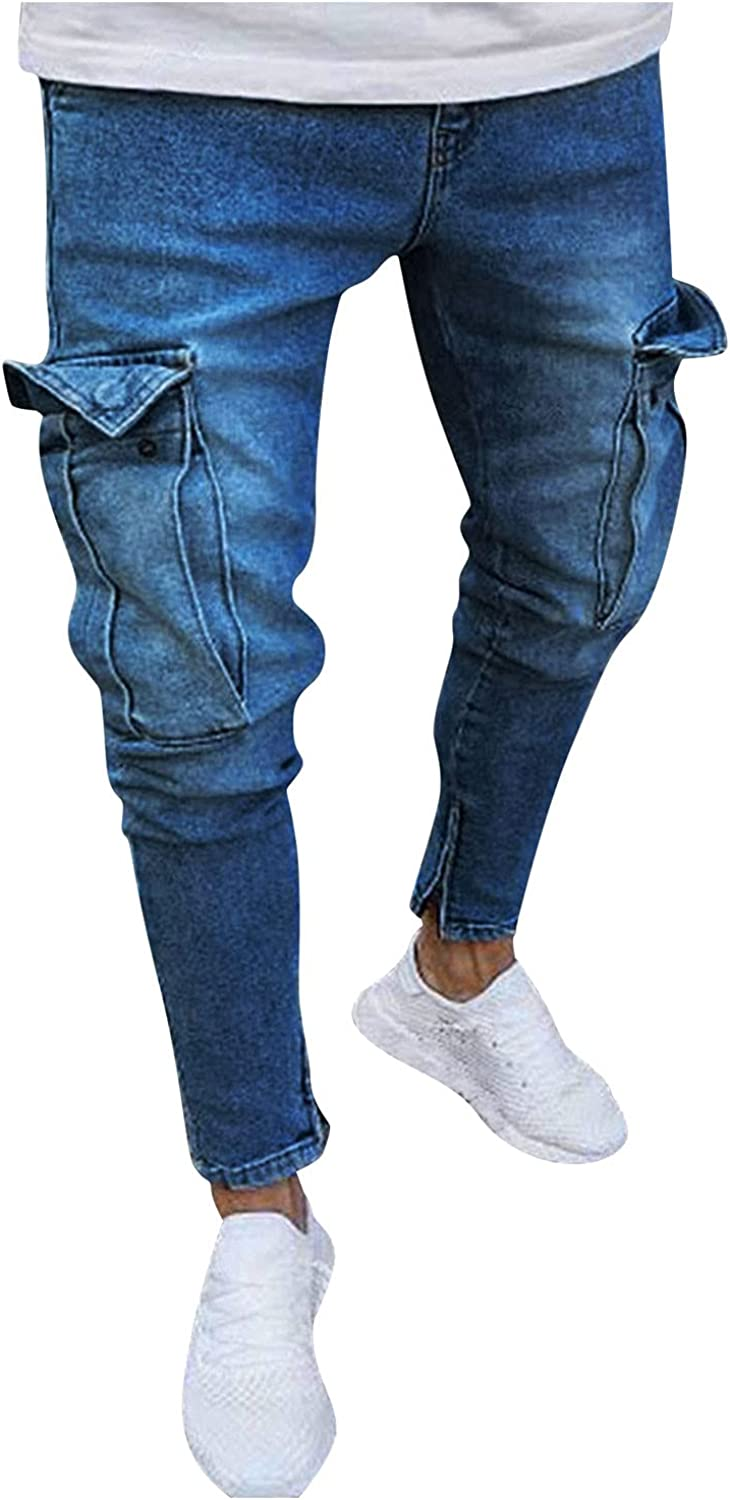 FUNEY Cargo Pants Men Indianapolis Mall Fashion Daily bargain sale Ripped Hop Denim Casual Hip