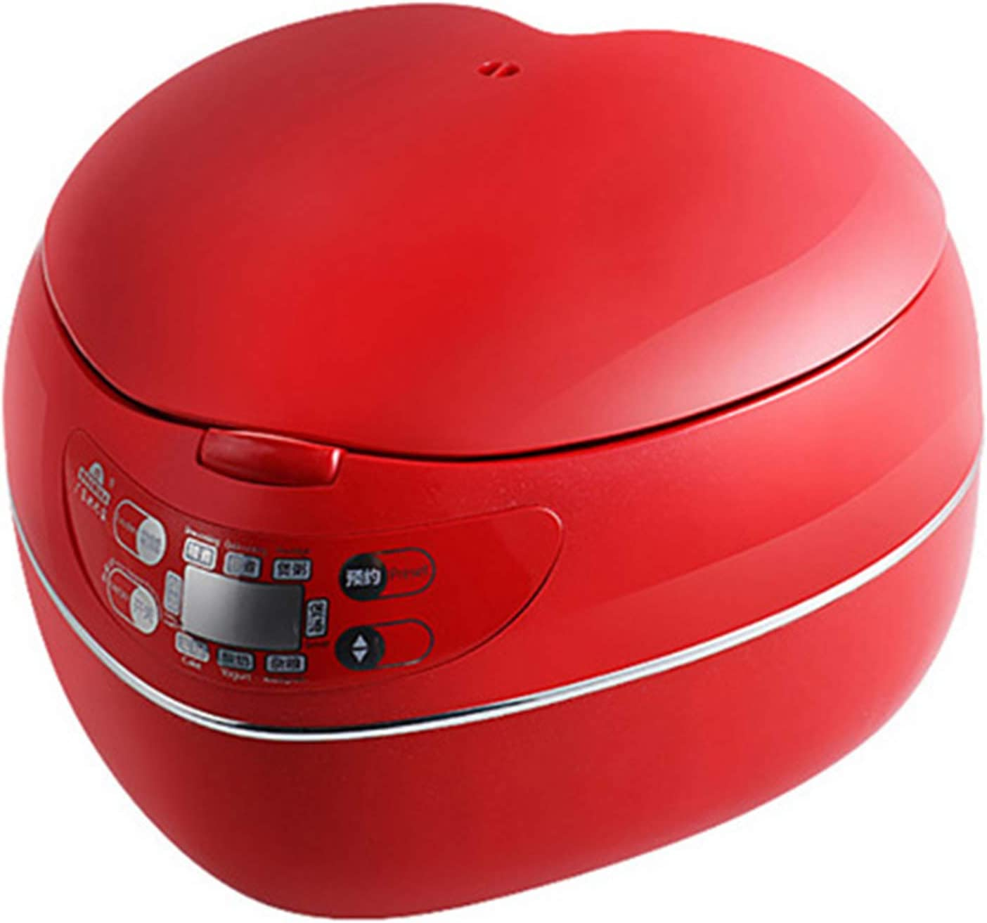 ZYQDRZ Peach Heart-Shaped Now on sale Don't miss the campaign Rice 300W 1 Smart Cooker