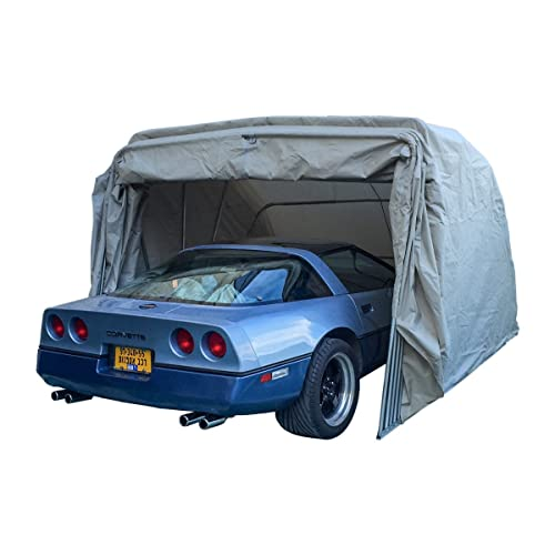 Ikuby Super Sturdy Heavy Duty Portable lockable Carport: all Weatherproof Anti UV Waterproof Retractable Car