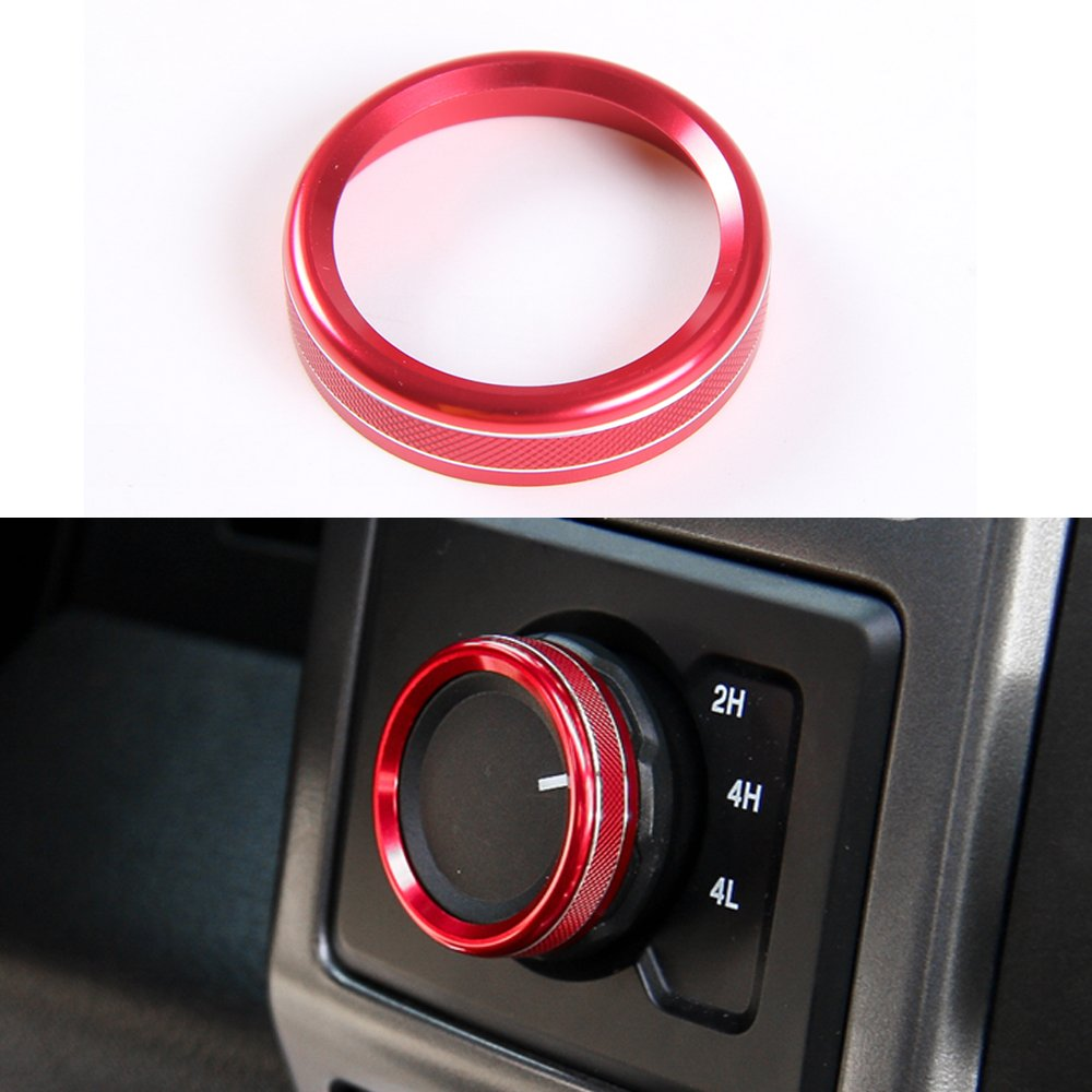 4Pcs Air Condition Switch Knob Cover Trim For Ford F150 F-150 2016 2017 Car Auto