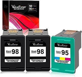 Valuetoner Remanufactured Ink Cartridge Replacement for HP 98 C9364WN & 95 C8766WN for Officejet 150 100 6310, PhotoSmart 8050 C4180 C4150, Deskjet 460 5940 Printer (2 Black, 1 Tri-Color, 3 Pack)