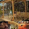 Ucharge LED Window Curtain Icicle Lights,