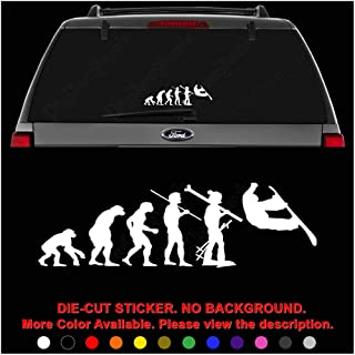 Snowboarding Snowboard Sports Evolution Die Cut Vinyl Decal Sticker for Car Truck Motorcycle Vehicle Window Bumper Wall Decor Laptop Helmet Size- [8 inch] / [20 cm] Wide || Color- Gloss Black