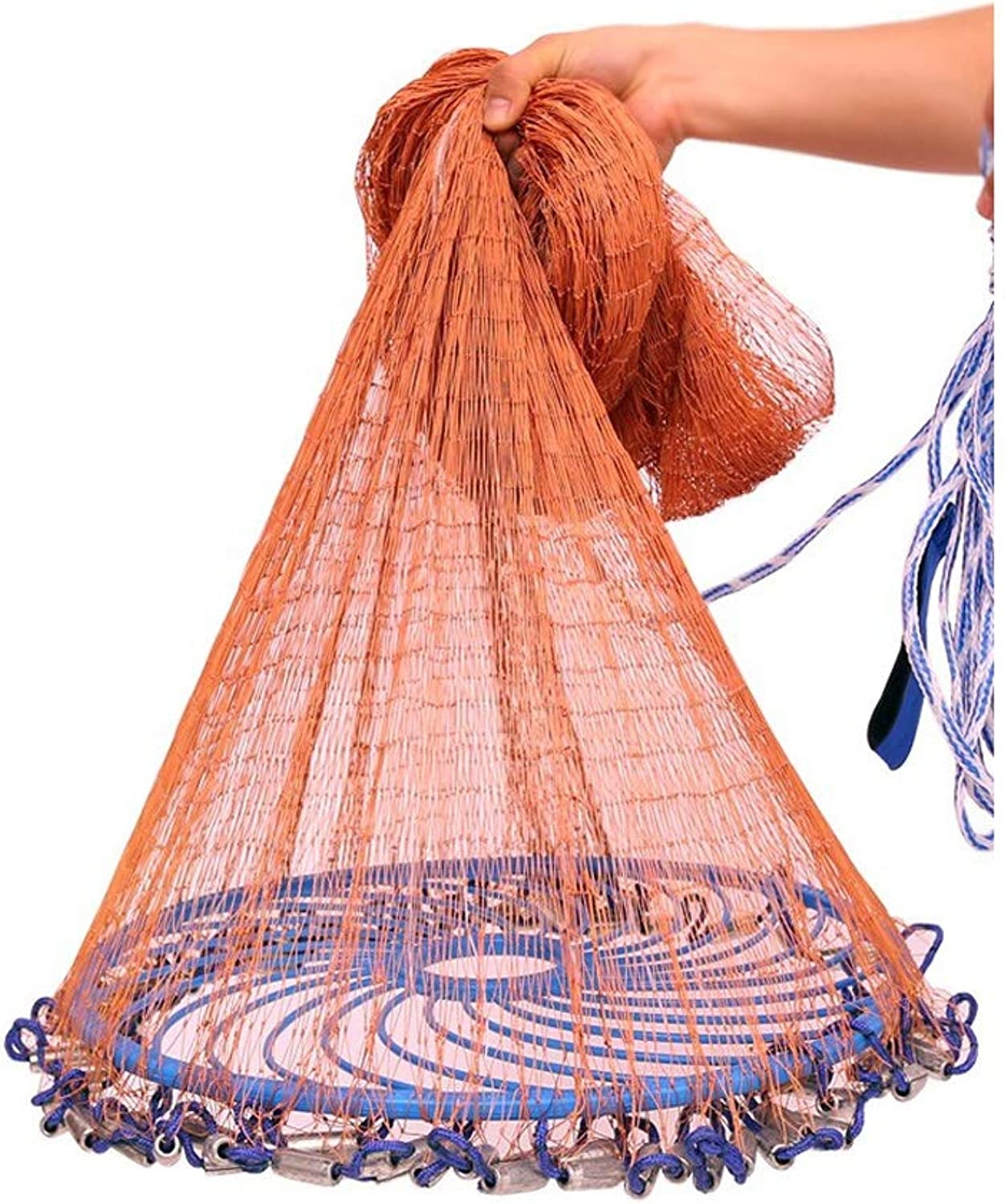 Hand Throwing Disc Fishing Nets Fishing Artifacts Trap Fishing Tools Folding Wearable Decoy Lightweight Easy to Use MultiSize Optional (Size   1.2m high Steel Pendant)