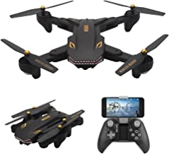 AMAZINGBUY - VISUO XS809S 2.0MP HD Wide Angle Camera Foldable SHARKS Drone Wifi FPV RC Quadcopter - 3.7V 1800mAh Up To 20 Minutes Long Fly Time Drone VISUO XS809HW XS809W XS809 [2019 Upgraded Version]