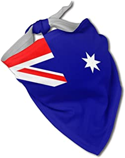 SDBUYW-ZQ Flag of Australia Dog Bandanas Washable and Reversible Triangle Cotton Dog Bibs Scarf