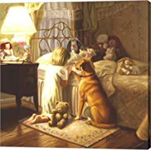 Bedtime Prayer by Ron Bayens Canvas Art Wall Picture, Gallery Wrap, 16 x 16 inches